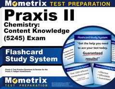 Praxis II Chemistry: Content Knowledge Flashcards