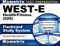 WEST-E Health/Fitness Flashcards