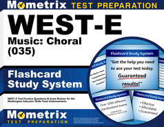 WEST-E Music: Choral Flashcards