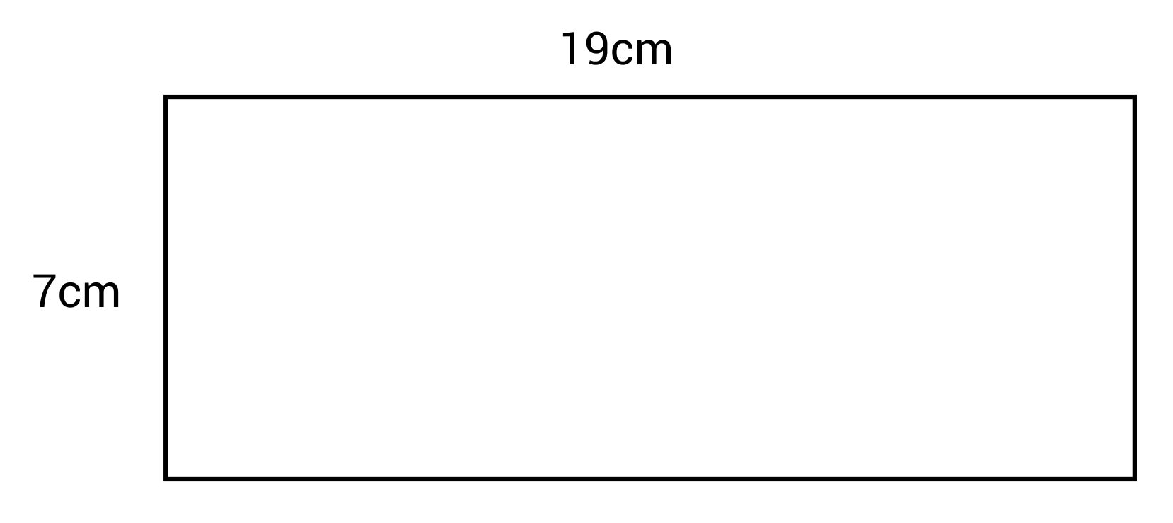 19 by 7cm rectangle