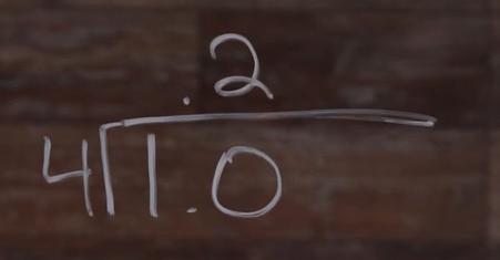 1.0 DIVIDE 4=.2