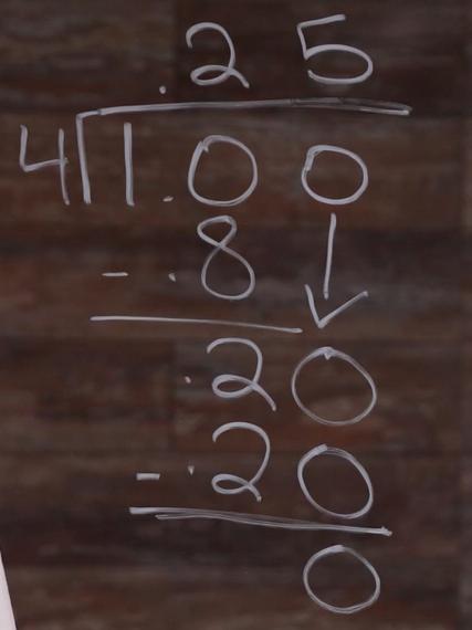 1.00 divide 4=.25 - FINAL