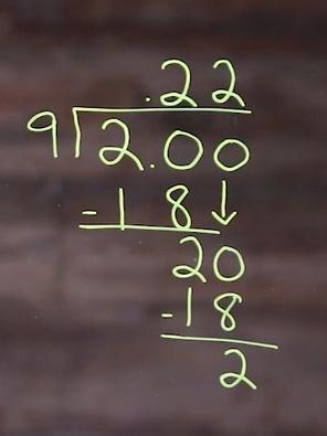 2 divide 9