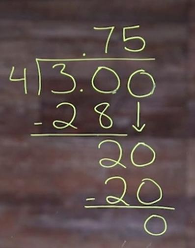 3 divide 4