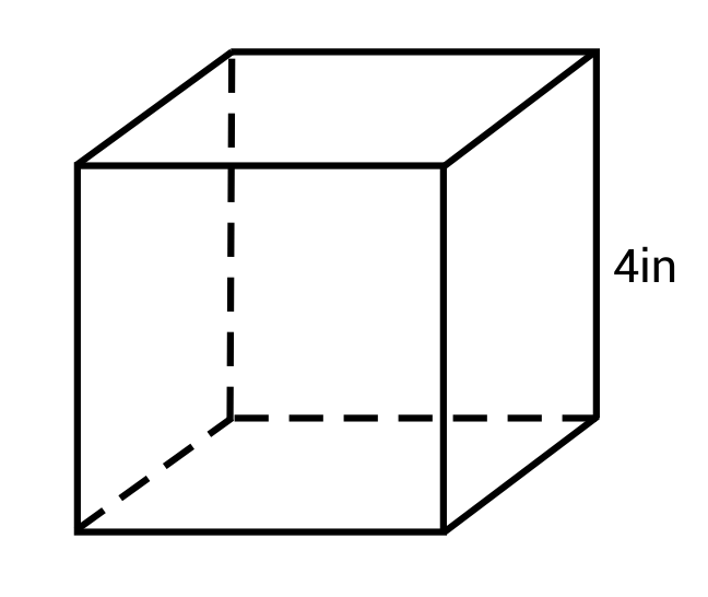 cube that is 4in