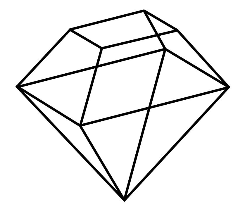 Diagram of a diamond