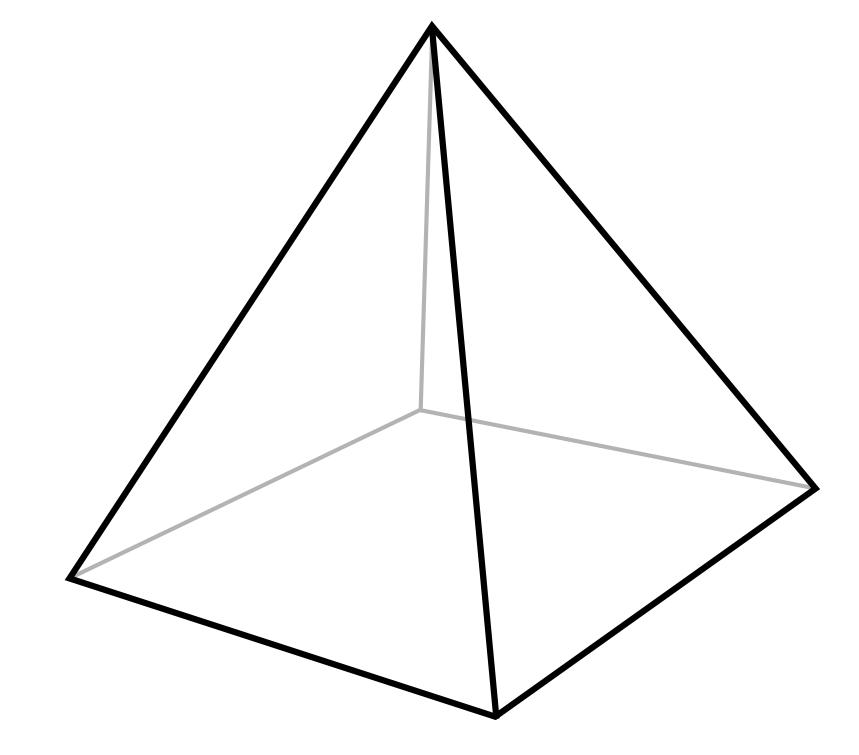 Diagram of a square pyramid