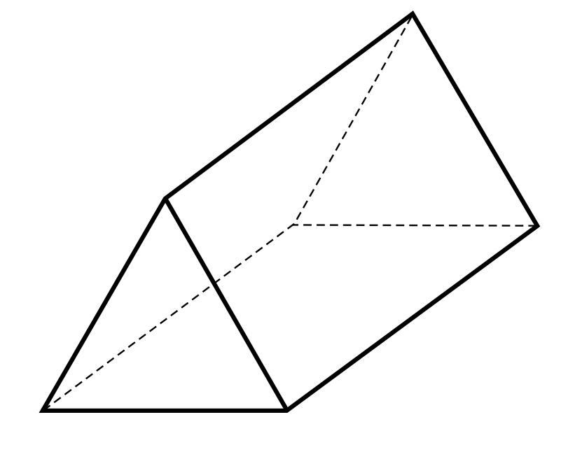 Diagram of a triangular prism