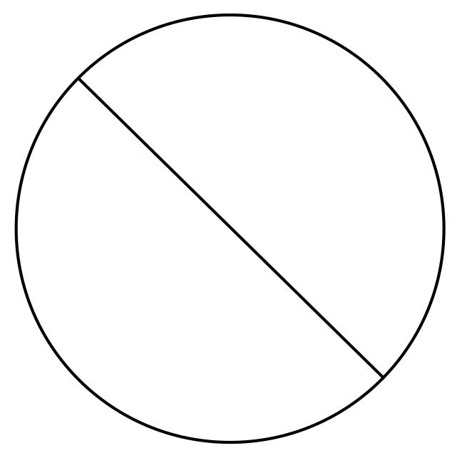 circle with slash through it