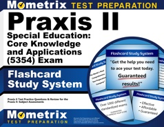 Mometrix Praxis II Special Education: Core Knowledge and Applications Flashcards