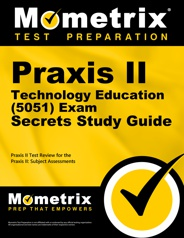Praxis II Technology Education (5051) Exam secrets study guide cover