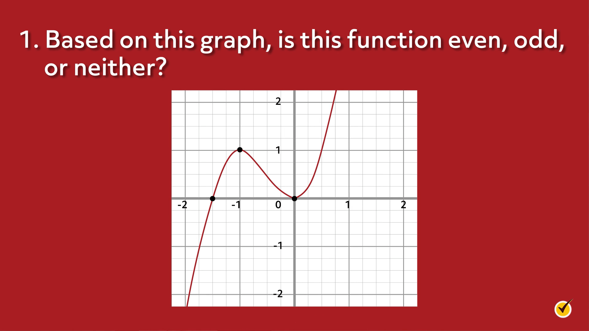 A graph that is not odd or even.