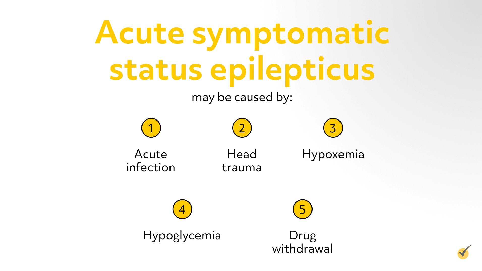 Causes of acute symptomatic status epilepticus