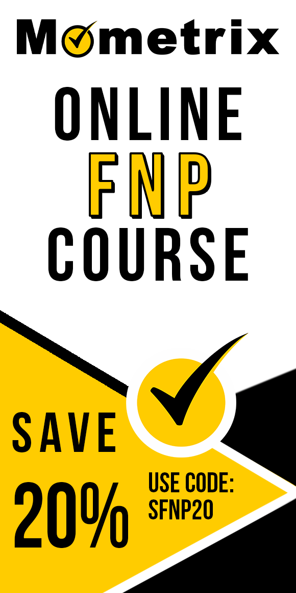 Click here for 20% off of Mometrix FNP online course. Use code: SFNP20