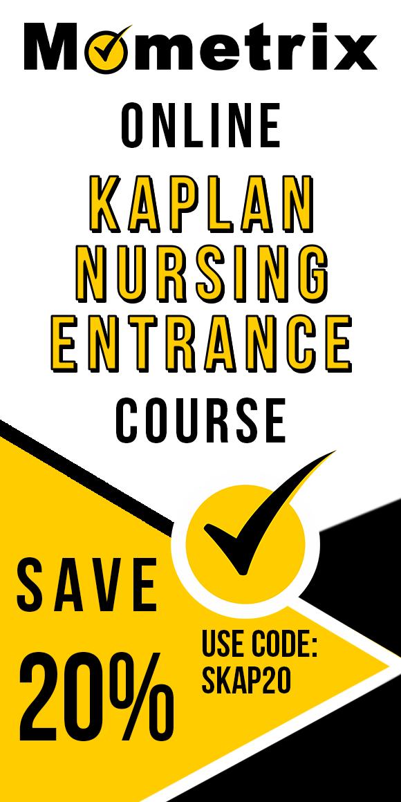 Click here for 20% off of Mometrix Kaplan Nursing School Entrance Exam online course. Use code: SKAP20