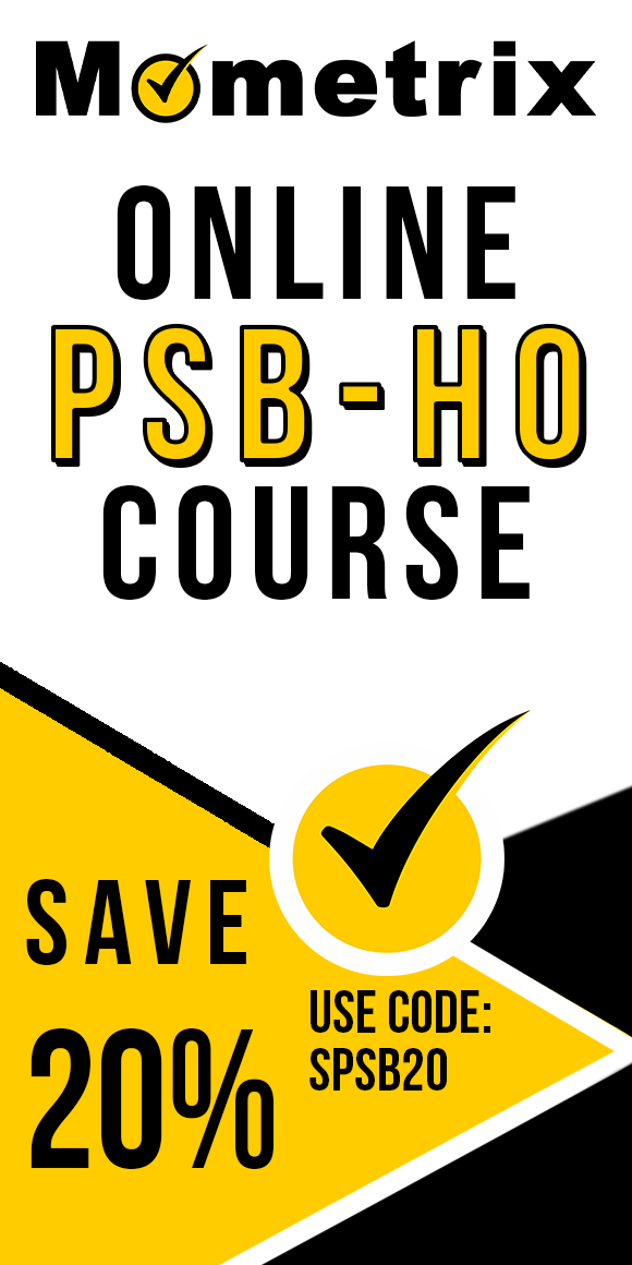 Click here for 20% off of Mometrix PSB-HO online course. Use code: SPSB20